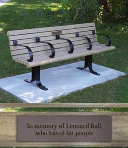 In memory of Leonard Ball who hated fat people