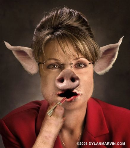 Palin Is A Pig - With Lipstick