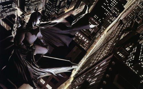 Batman overlooks his city