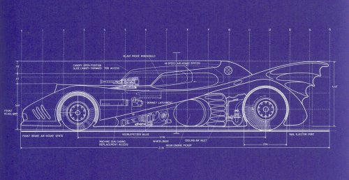 Batmobile Blueprints 1