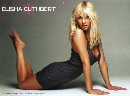 elisha cuthbert - back arch