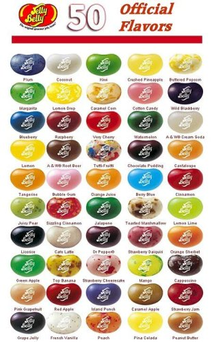 jelly belly - 50 official flavors