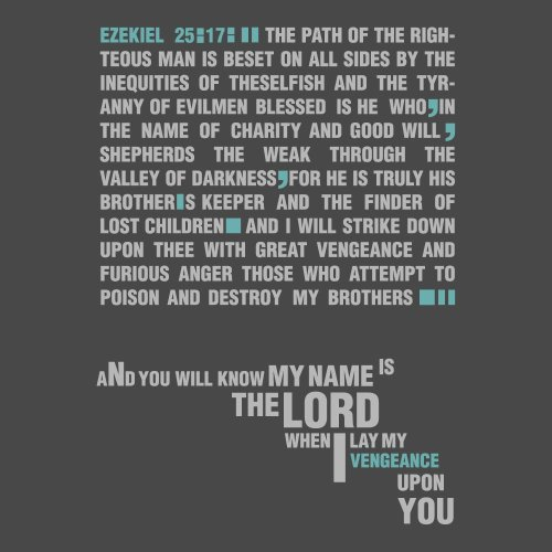 You will know my name is the lord when I lay my vengeance upon you