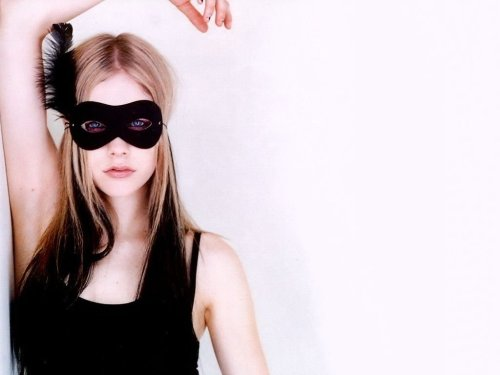 Avril Lavigne is REALLY masked