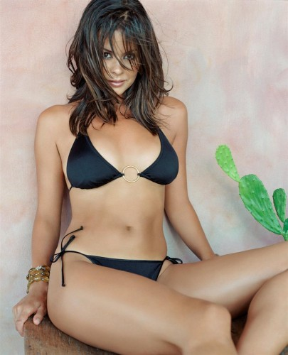 Brooke Burke - Black Swimsuit