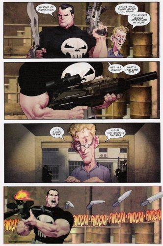The Punisher - A gun that shoots swords