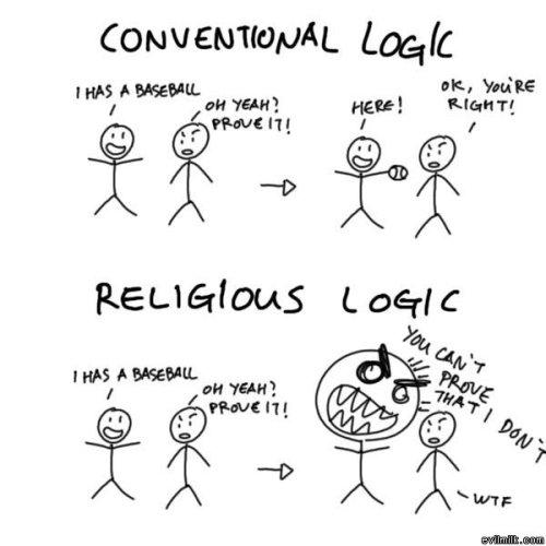 Conventional Logic Vs Religous Logic
