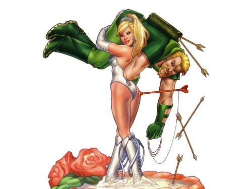 Green Arrow and Black Canary - Wedding Topper