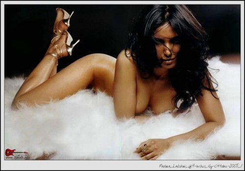 nsfw - Padma Lakshmi on fur