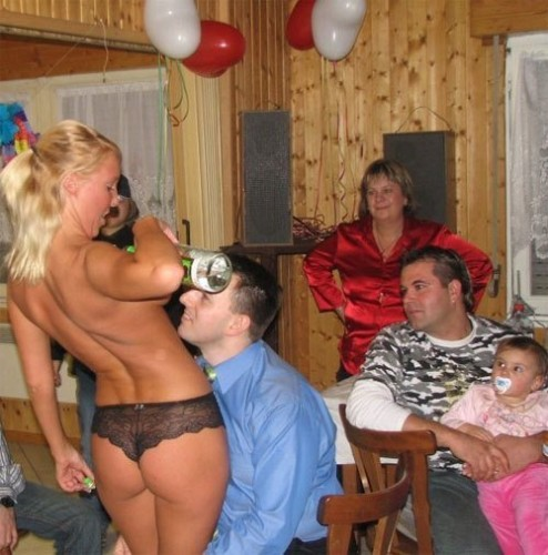 nsfw - stipper party - with baby