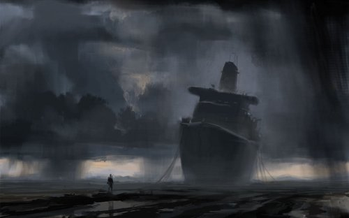 Stranded Ship