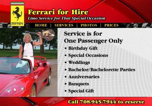Ferrari Limo Service For Hire