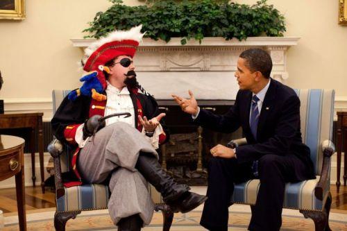 obama meets a pirate