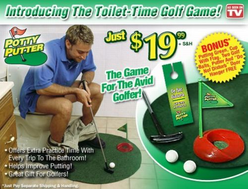 toilet-time golf game