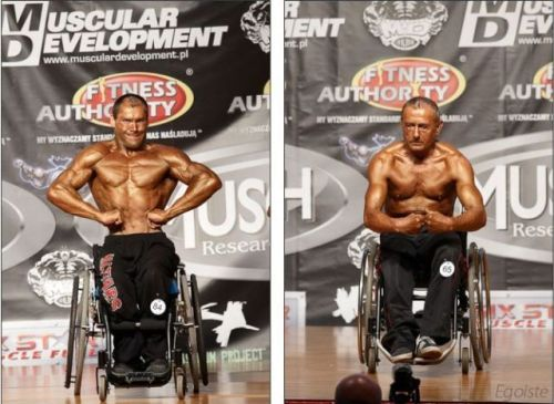 wheel chair muscle man