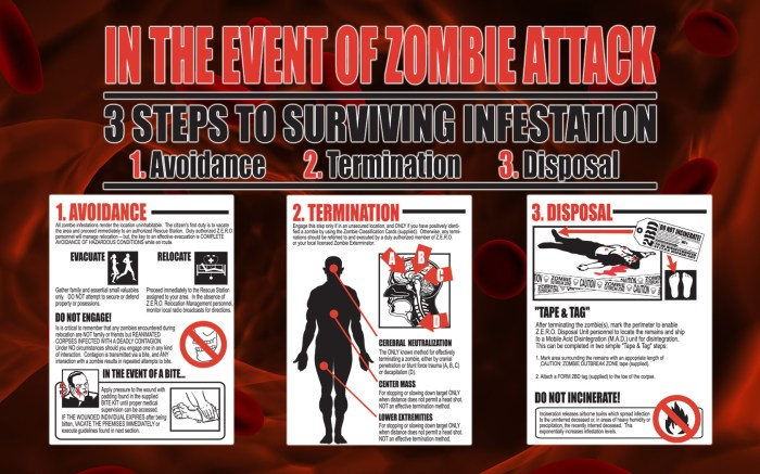 3 steaps to survive infestation of a zombie attack