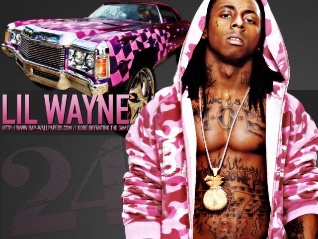 lil wayne with pink car