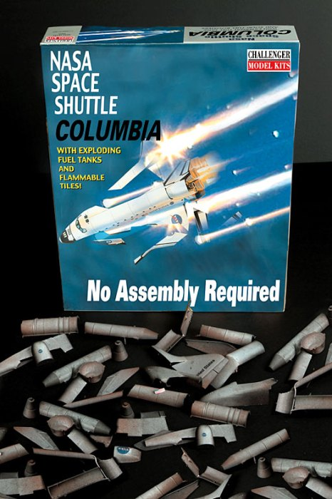space shuttle columbia - no assemly required