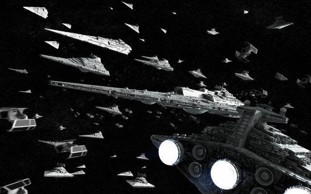 star wars - imperial fleet action