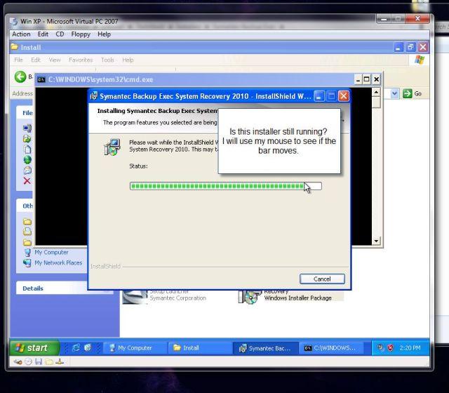 is this installer still running