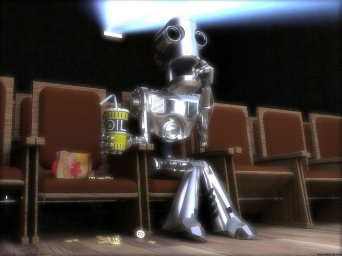 shocked robot movie viewer