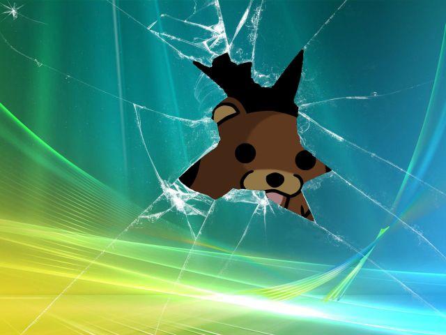pedo bear through the screen