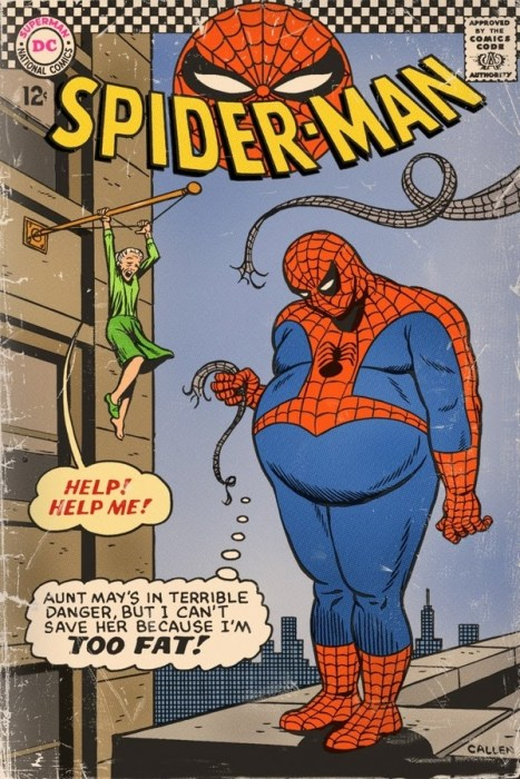 spider-man is too fat