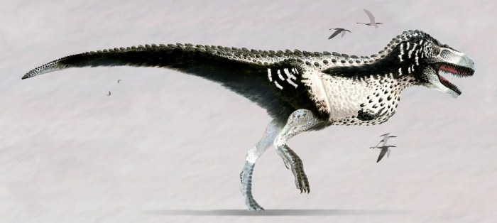 T-Rex with feathers