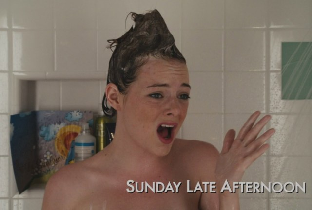 emma stone - in the shower