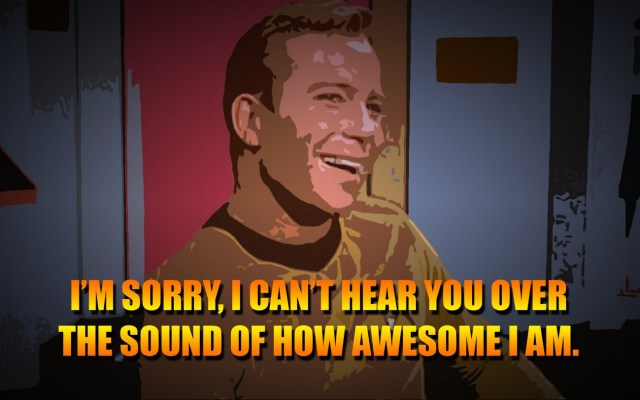 the sound of how awesome I am