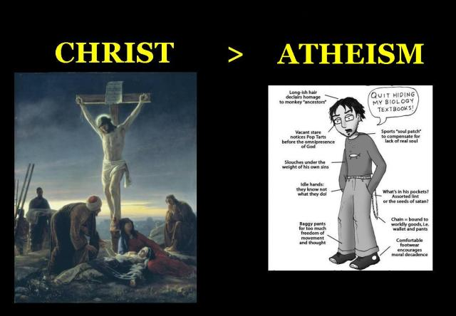 christ vs atheism