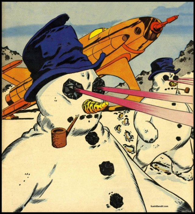 lazer snowmen from space
