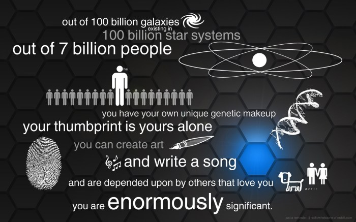 you are enormously significant
