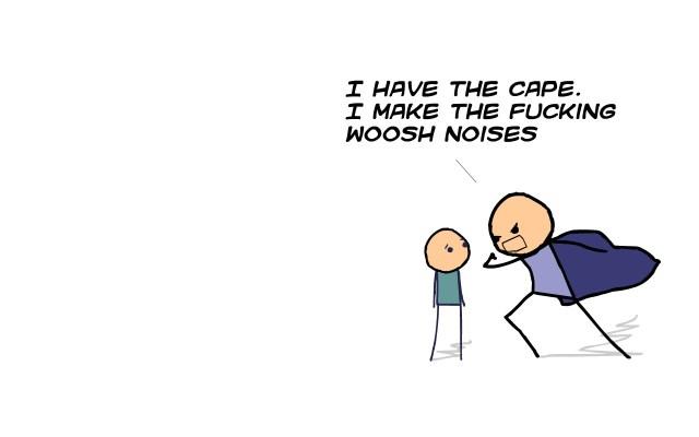 I make the whoosh noises