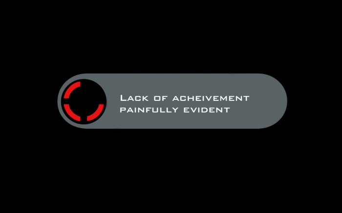 lack of achievement painfully evident