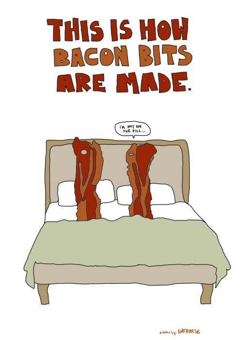 this is how bacon bits are made