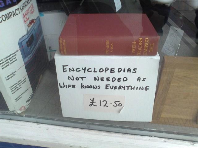 encyclopedias not needed
