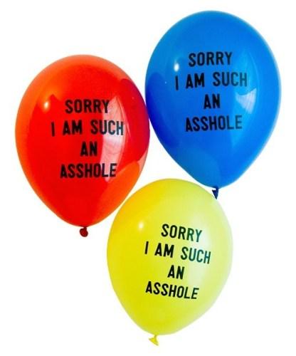 sorry balloons