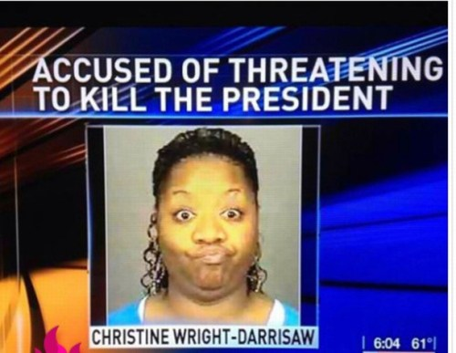 accused of threatening to kill the president