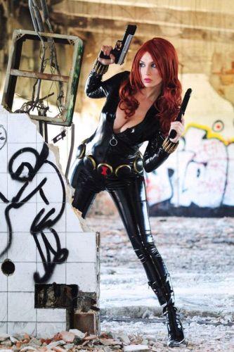 busty black widow