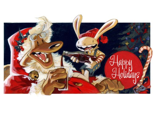 happy holidays - sam and max