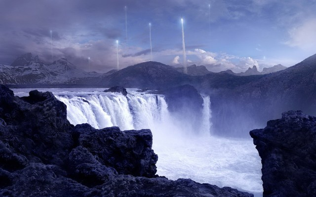 Waterfall rocket launch.jpg