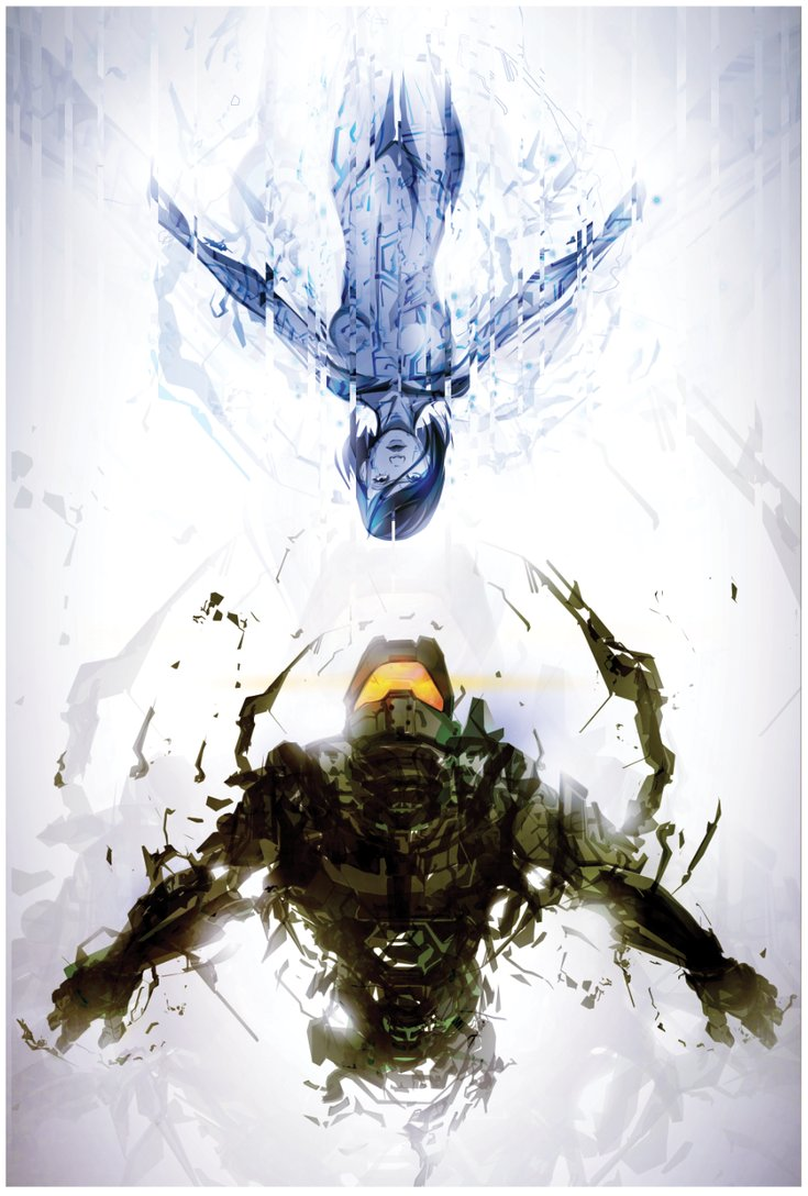 Master Chief And Cortana Vertical Wallpaper Myconfinedspace