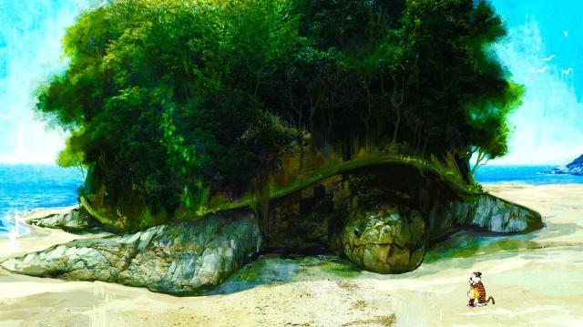 calvin and hobbes - turtle island.jpg