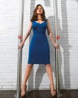 Haley Atwell - Blue Dress between poles.jpg