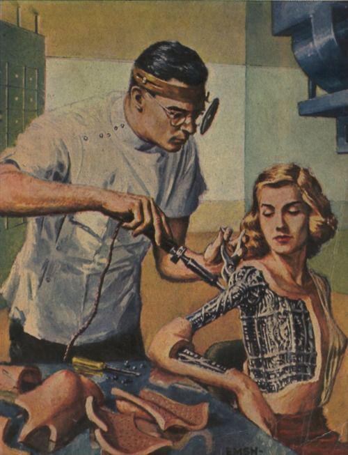 Robot Woman Vintage Future - Retro Futurism. - Imgur