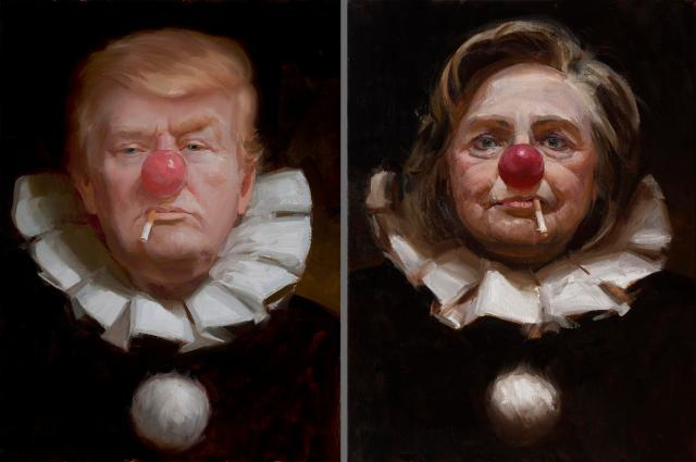 Two clowns in the same circus.jpg