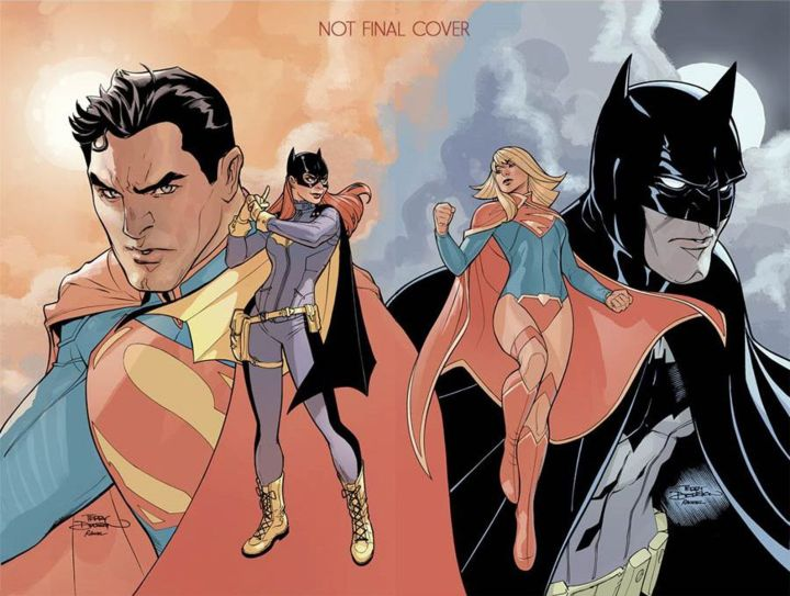 batman and superman with their female friends.jpg