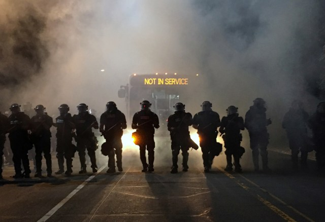 Police officers wearing riot gear in Charlotte, NC.jpg