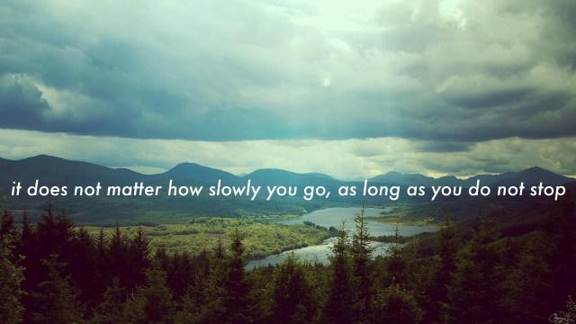 it does not matterhow slowly you go.jpg